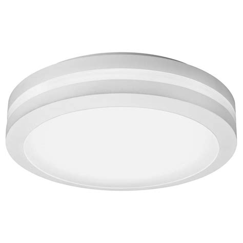 Outside Ceiling Light Lithonia Lighting White Outdoor Integrated Led Decorative Flush Mount Olfcm 15 Wh M4 The Home