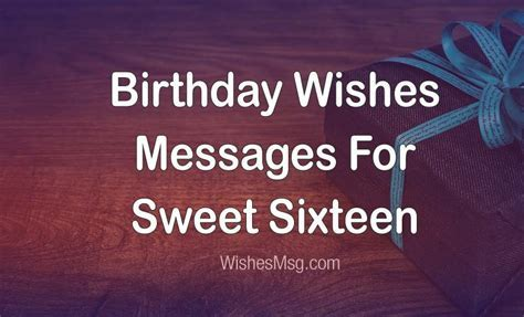 16th Birthday Wishes & Messages For Sweet Sixteen   WishesMsg