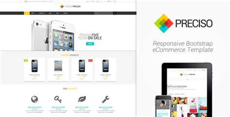 Responsive Ecommerce Template Bootstrap Preciso Responsive Bootstrap Ecommerce Template By Angelom Themeforest