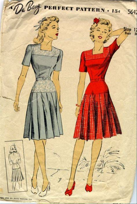 pleated skirt 1940s dress pattern sense sensibility