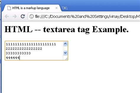 html textarea pattern html textarea tag exle