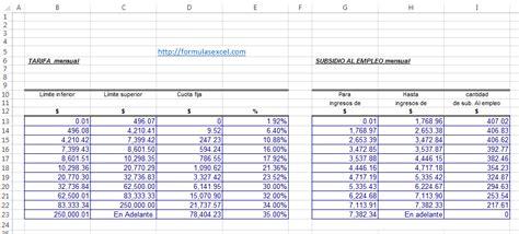 cambia las tablas de isr de tu sistema de nomina u otros software que formulas excel para calcular isr de salarios formulas excel