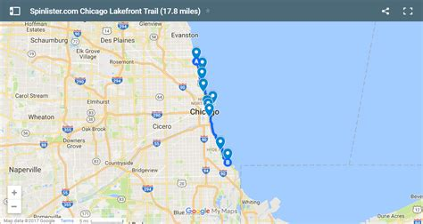 map of chicago lakefront map of chicago lakefront path pictures to pin on