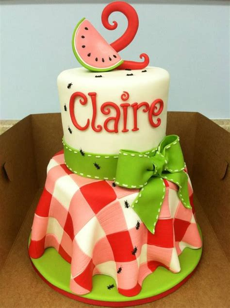 25 best ideas about watermelon birthday cakes on