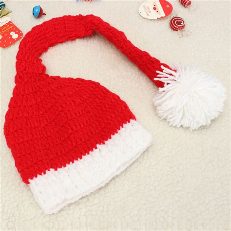 free knitting pattern photography prop baby christmas crochet knit hat photography costume photo