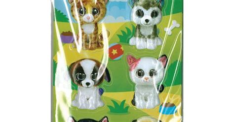 12pcs Pet Animal darice beanie boo 12pcs 3d stickers pet beanie babies ty beanie boos and beanie boo