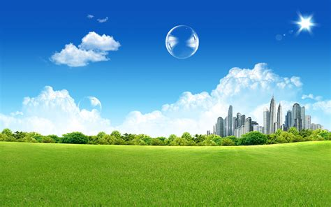 wallpaper green clean green city wallpapers hd wallpapers id 4818