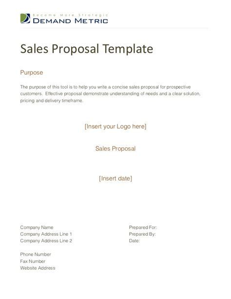 Sales Proposals Templates sales template