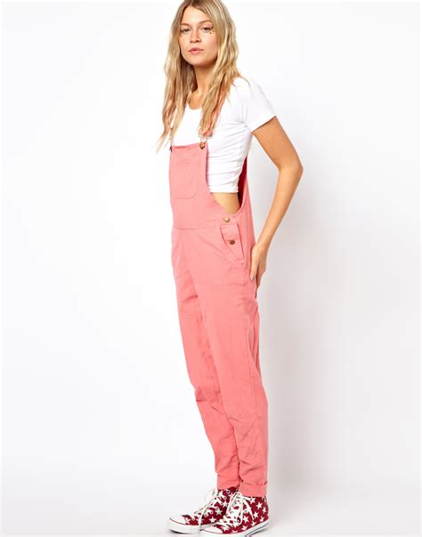 Pinkan Overal lyst asos exclusive overalls in pink