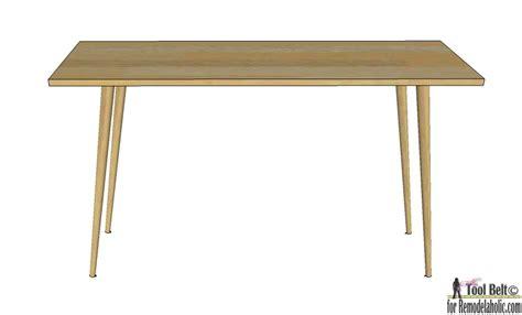 simple diy desk remodelaholic diy mid century modern desk