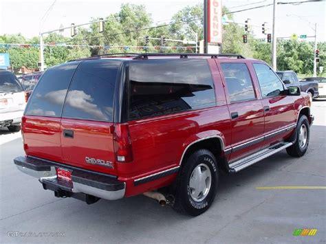 1995 suburban truck 1995 bright red chevrolet suburban k1500 ls 4x4 12133425 photo 7 gtcarlot com car color