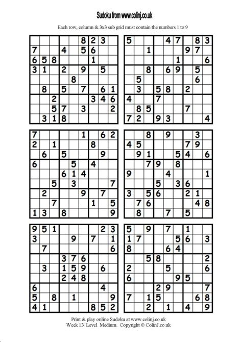 Printable Sudoku 6 Per Page 5 best images of printable sudoku 6 per page