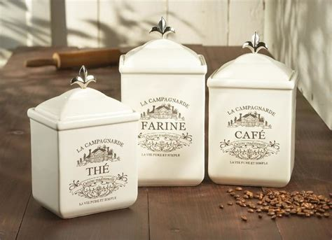 cream kitchen canisters cream ceramic maison canister set traditional kitchen