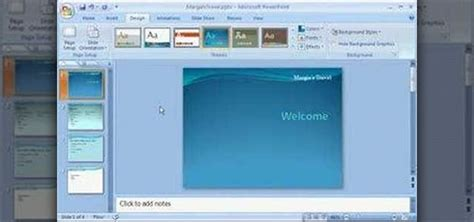 adding themes to powerpoint 2007 how to add a background to your present in powerpoint 2007