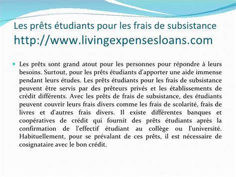 Mba Loans For Living Expenses by Les Pr 234 Ts 233 Tudiants Pour Les Frais De Subsistance