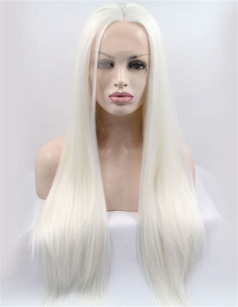 womans wig blonde medium long straight hair wig black platinum blonde wig synthetic hair long straight lace
