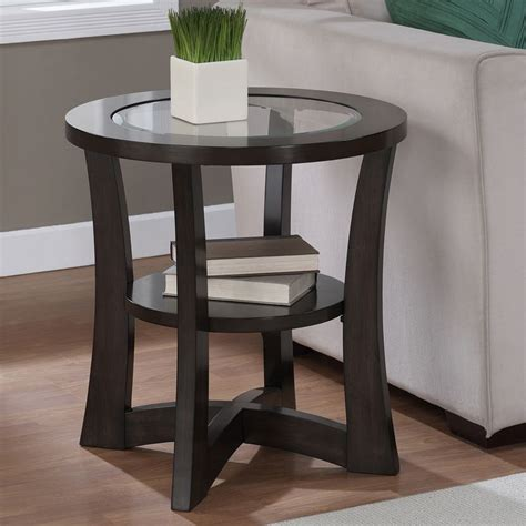 glass top for end table eclipse espresso glass top end table