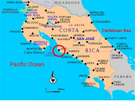 san jose costa rica nightlife map jaco costa rica