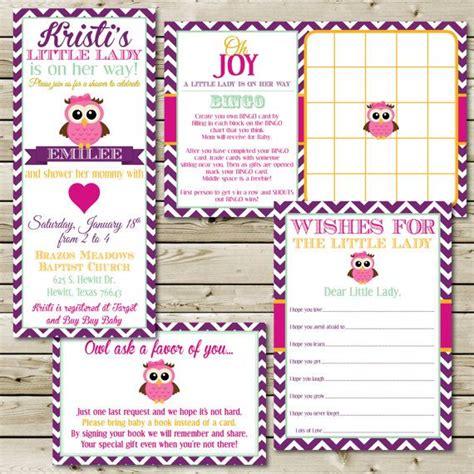 custom printable owl theme baby shower