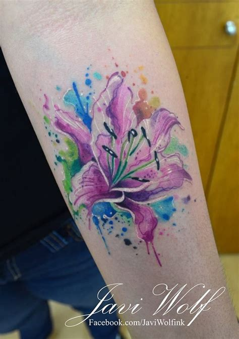 watercolor lily tattoo 42 watercolor tattoos collection