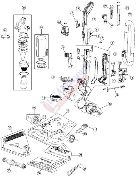 Vaccume Parts hoover uh70107 windtunnel t series upright vacuum parts usa vacuum