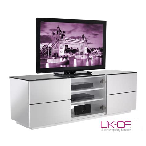 White Gloss Tv Stand Cabinet by Ukcf Brand High Gloss White Flat Glass Tv Stand Cabinets