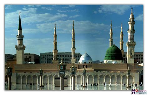 wallpaper green mosque masjid al nabvi picture one hd wallpaper pictures