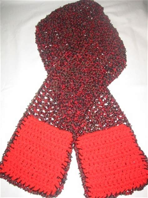 warming crochet scarf allfreecrochet