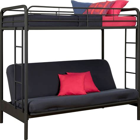dhp twin  futon metal bunk bed beds home