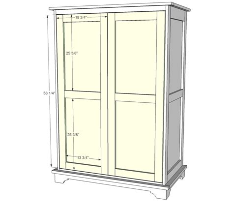 armoire wardrobe plans ana white toy or tv armoire diy projects