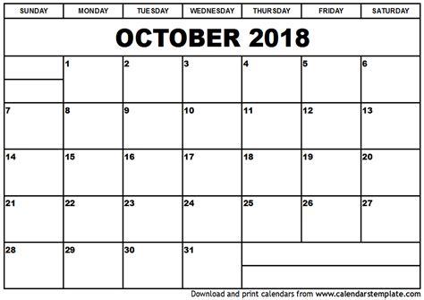april 2018 calendar templates printable october 2018 calendar with