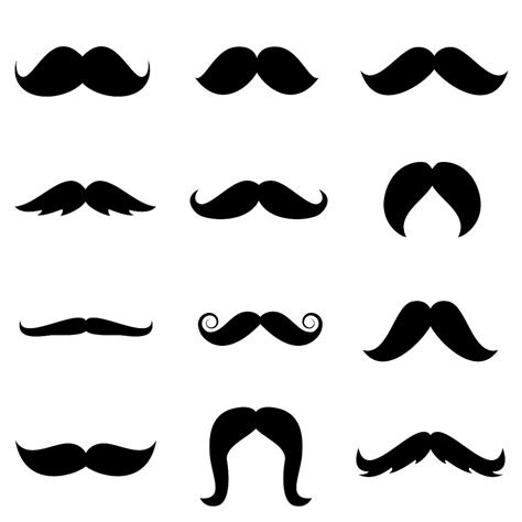 printable mustache templates free mustache template clipart best