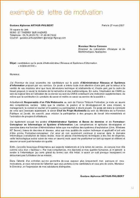 Exemple De Lettre De Motivation Université Licence Exemple Lettre De Motivation Licence