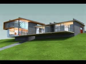 House Plans For Sloping Lots Modern Sloping Lot House Design Youtube