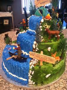 hunting amp fishing cake birthday ideas pinterest