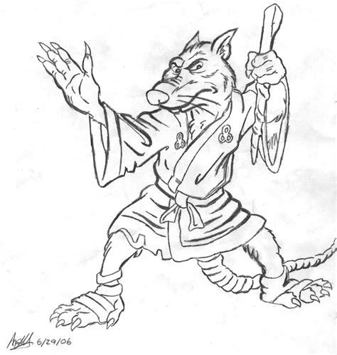 ninja turtles coloring pages splinter master splinter by sugarhog314 on deviantart