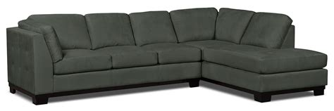 grey microsuede sectional oakdale 2 piece microsuede right facing sectional with