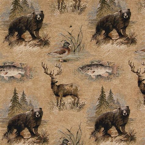 lodge style upholstery fabric cabin nature fabric upholstery cabin design pinterest