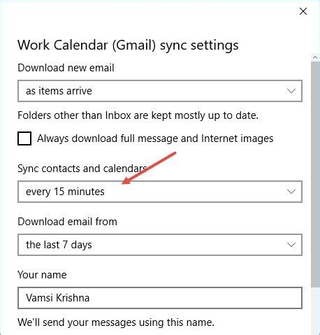 Calendar Update Frequency Sync Calendar With The Calendar App In Windows 10