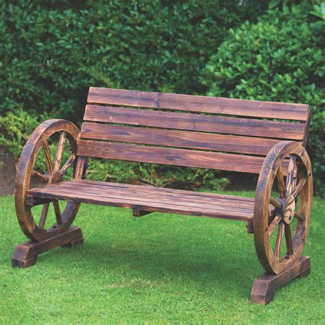 wagon wheel bench for sale wagon wheel bench 2 seater garden furniture