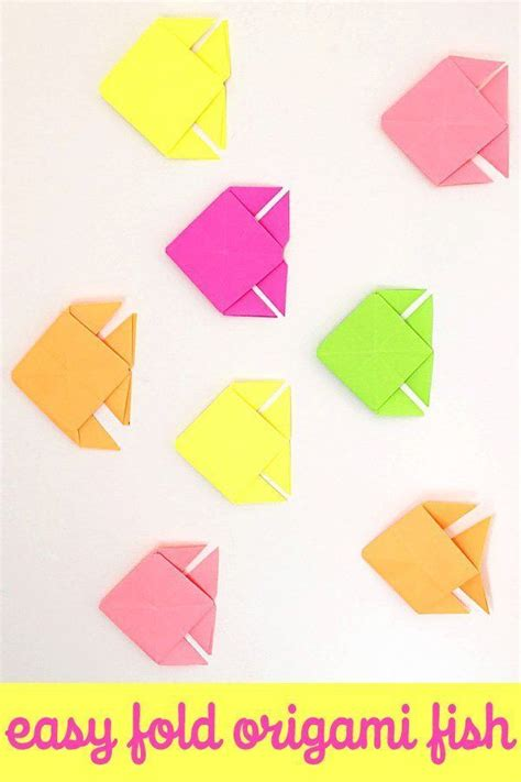 One Fold Origami - origami fish easy folding fish origami
