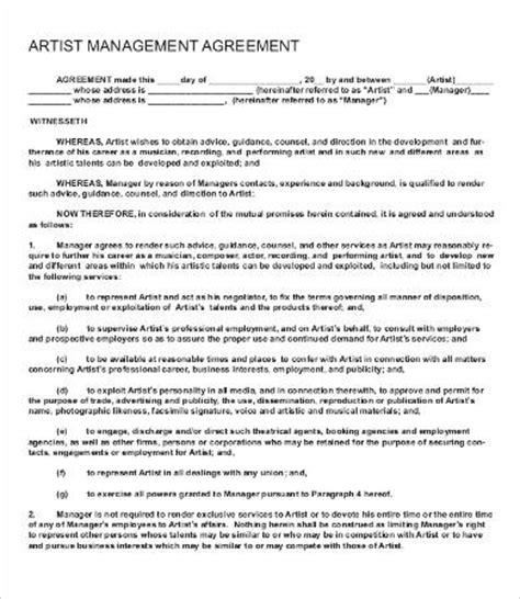 side artist agreement template side artist agreement template artist agreement template 9