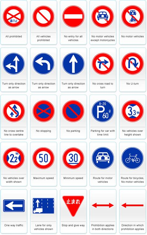 printable european road signs print traffic signs