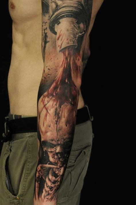 in the blood tattoo see more blood and skull tattoos on arm tats chingones