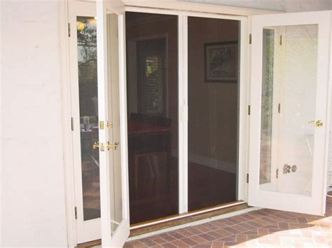 hinged pato door patio 1000 ideas about screens for doors on