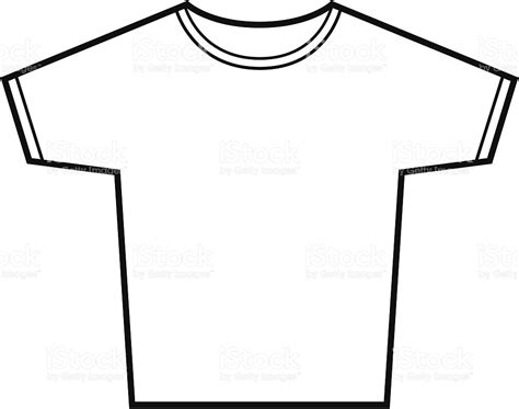 Shirt Outline Eps by Tshirt Vector Outline Stock Vector 165027606 Istock