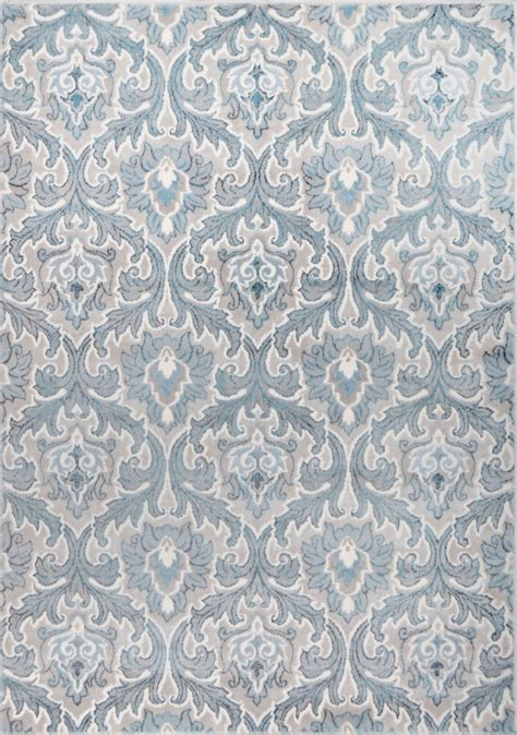 Patterned Rugs Modern Contemporary Blue Carpet Curls Flames Patterned Geometric Area Rug Ebay