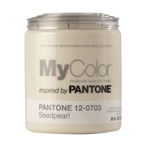shop mycolor inspired by pantone 35 fl oz interior eggshell seed pearl water base paint and