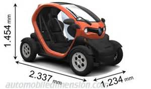 Renault Twizy Dimensions Dimensions Of Renault Cars Showing Length Width And Height