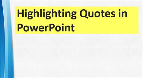 powerpoint templates for quotes highlighting quotes and text in powerpoint free